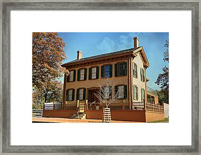 Lincoln's Home -- Springfield Framed Print by Stephen Stookey