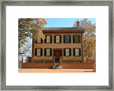 Lincoln's Home Framed Print by Stephen Stookey