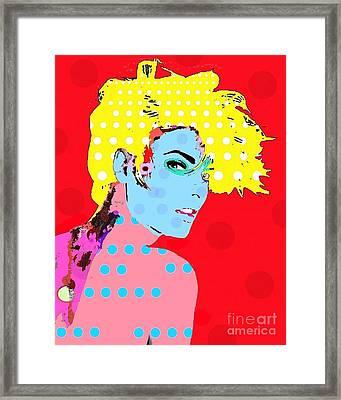 Linda Evangelista Framed Print by Ricky Sencion