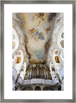 Lindau Organ And Ceiling Framed Print