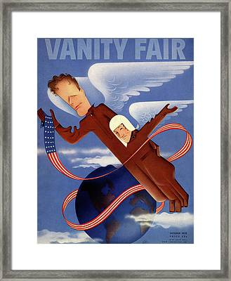 Lindbergh's In Flight Uniforms Framed Print by Paolo Garretto