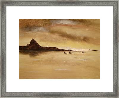 Lindisfarne Castle Holy Island England Framed Print