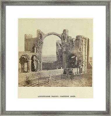Lindisfarne Priory: Rainbow Arch Framed Print by British Library
