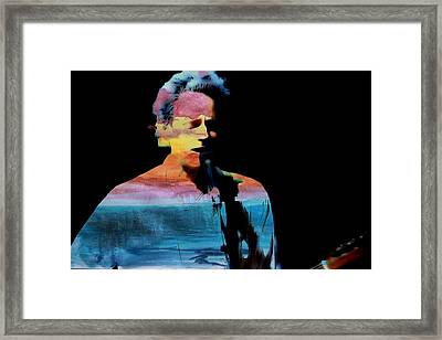 Lindsey Buckingham Framed Print by John Delong