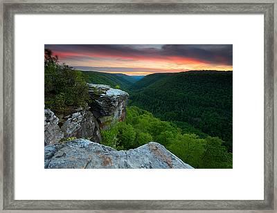 Lindy Point Sunset Framed Print by Bernard Chen