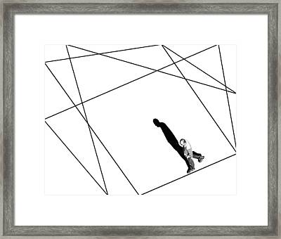 Line And Shadow Framed Print