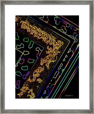Line Art Framed Print by Mario Perez