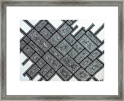 Line Art Framed Print by Megan Dirsa-DuBois