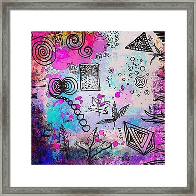 #line #color #shape #design #doodles Framed Print by Robin Mead
