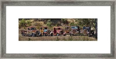 Line Em Up Hdr Framed Print by Scott Campbell