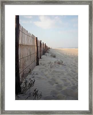 Framed Print featuring the digital art Line In The Sand by Kelvin Booker