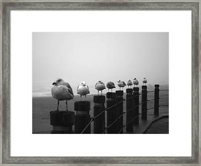 Line In The Storm Framed Print