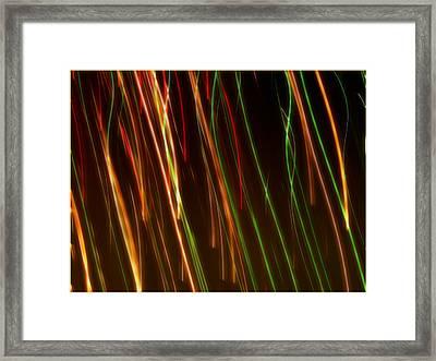 Line Light Framed Print