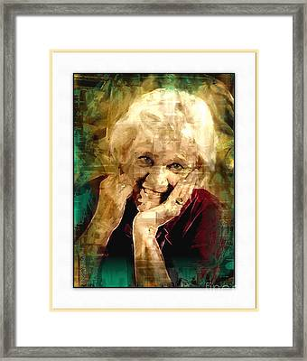 Line Of Life Experiences.. Framed Print by Sharon Burger