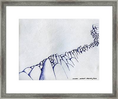 Line Of Rocks Framed Print