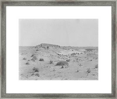 Line Of Wall And Track Framed Print by British Library