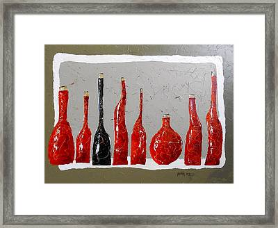 Line Of Wine Framed Print