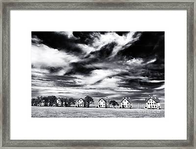 Lined Up In Sandy Hook Framed Print by John Rizzuto