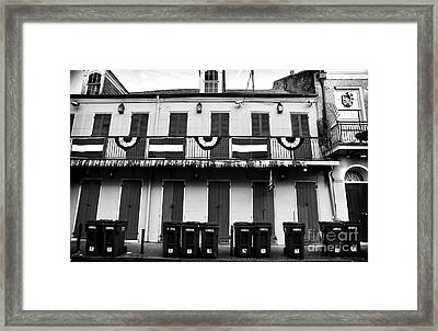 Lined Up On Bourbon St Framed Print by John Rizzuto