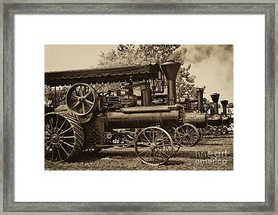 Lined Up To Work Framed Print by Paul W Faust -  Impressions of Light
