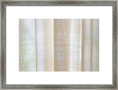 Linen Curtain Framed Print by Tom Gowanlock