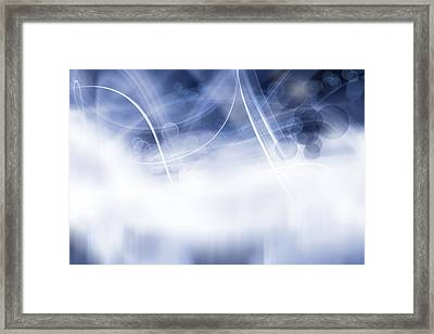 Lines And Circles Framed Print by Les Cunliffe