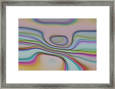 Lines And Circles -p04a Framed Print