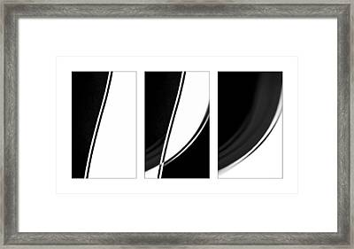 Lines And Curves In Black And White Framed Print by Natalie Kinnear