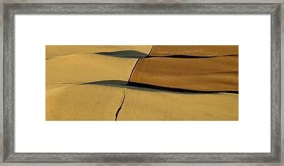 Lines And Light Of The Palouse Framed Print by Latah Trail Foundation