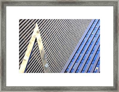 Lines And Parallelism Framed Print by Valentino Visentini