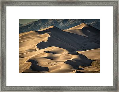 Lines And Sahdows Framed Print