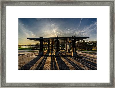 Lines And Shadows Framed Print by Randy Scherkenbach