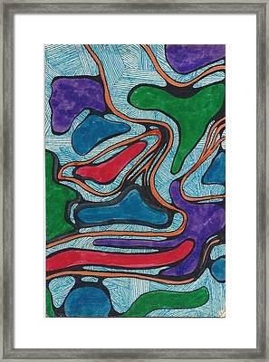 Lines In Abstract Framed Print by Cim Paddock