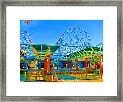 Lines In Colors Framed Print by Wendy J St Christopher
