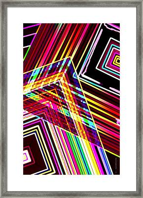 Lines In Geometric Shape  Framed Print by Mario Perez