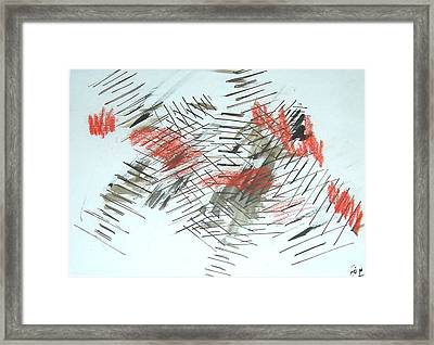Framed Print featuring the painting Lines In Movement by Esther Newman-Cohen