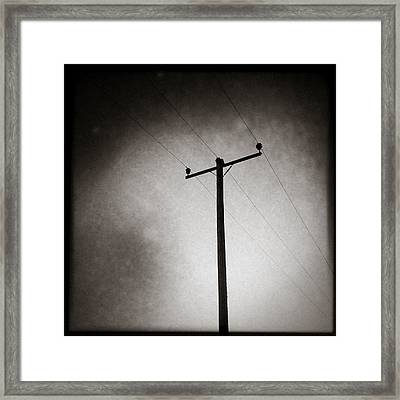 Lines Of Communication Framed Print by Dave Bowman