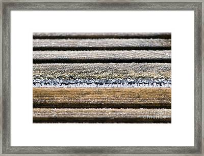 Lines Of Ice Framed Print by Anne Gilbert