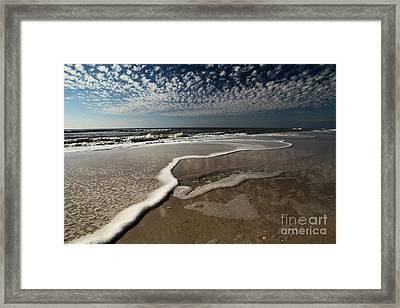 Lines Of Salty Foam Framed Print by Adam Jewell
