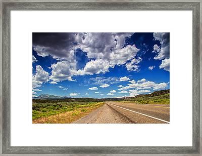 Lines Of Utah Framed Print