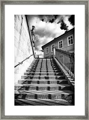 Lines On The Stairs Framed Print by John Rizzuto