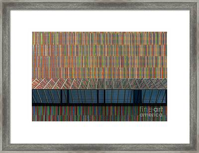 Lines - Pop Framed Print by Hannes Cmarits