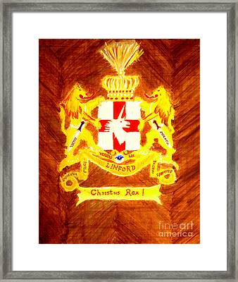 Linford Coat Of Arms Honoring My Ancestors Especially John And Maria Linford Framed Print by Richard W Linford