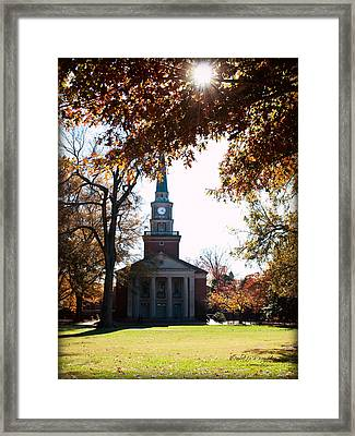 Lingle Chapel - Davidson College Framed Print by Paulette B Wright