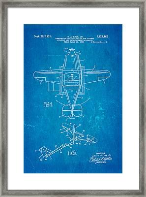 Link Flight Simulator Patent Art 2 1931 Blueprint Framed Print by Ian Monk