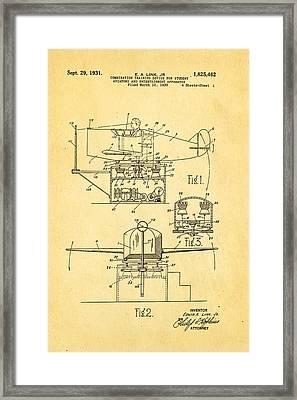 Link Flight Simulator Patent Art 2 1931 Framed Print by Ian Monk