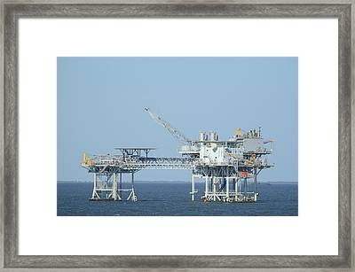 Linked Oil Platforms Framed Print