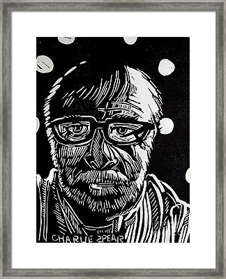 Lino Cut Charlie Spear Framed Print