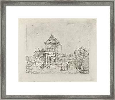 Linschoterpoort At Oudewater, Ethe Netherlands Framed Print by Eberhard Cornelis Rahms
