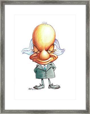 Linus Pauling Framed Print by Gary Brown